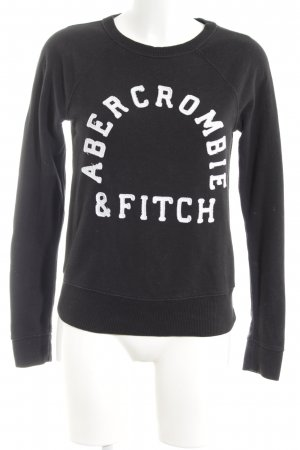 Abercrombie & Fitch Sweat Shirt black embroidered lettering casual look