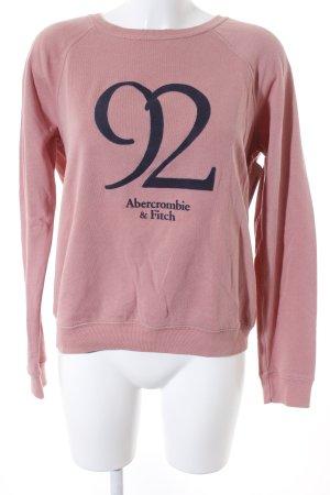 Abercrombie & Fitch Sweatshirt altrosa-dunkelgrau Schriftzug gedruckt