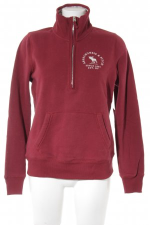 Abercrombie & Fitch Sweatshirt dunkelrot Casual-Look