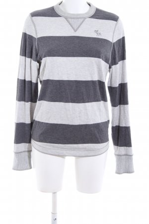 Abercrombie & Fitch Sweatshirt hellgrau-schwarz meliert Casual-Look