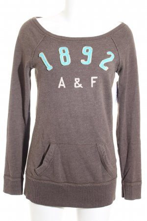 Abercrombie & Fitch Sweatshirt graubraun Casual-Look