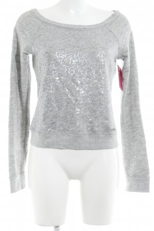 Abercrombie & Fitch Suéter gris claro look casual