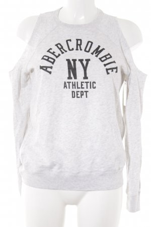 Abercrombie & Fitch Suéter gris claro-negro moteado look casual