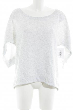 Abercrombie & Fitch Sweatshirt hellgrau-wollweiß meliert Casual-Look