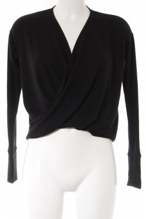 Abercrombie & Fitch Sweatshirt schwarz Webmuster Casual-Look