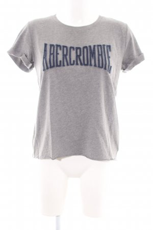 Abercrombie & Fitch T-shirt lichtgrijs-blauw gedrukte letters casual uitstraling