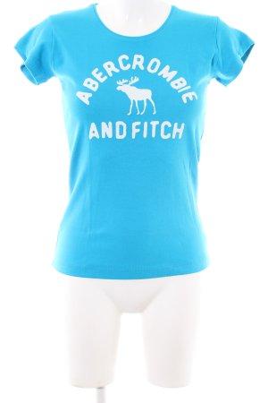 Abercrombie & Fitch T-shirt blu Stampa a tema stile casual