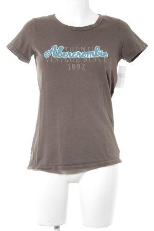 Abercrombie & Fitch T-Shirt braun Schriftzug gedruckt Casual-Look