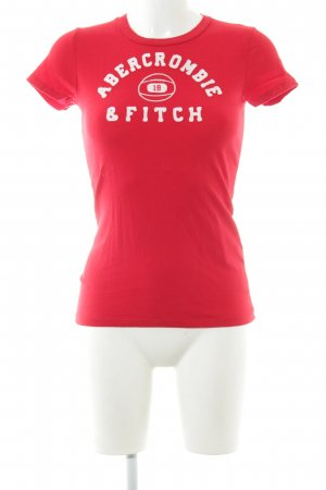 Abercrombie & Fitch T-shirt rosso-bianco stile casual