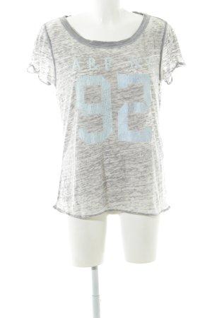 Abercrombie & Fitch T-shirt grigio chiaro puntinato stile casual