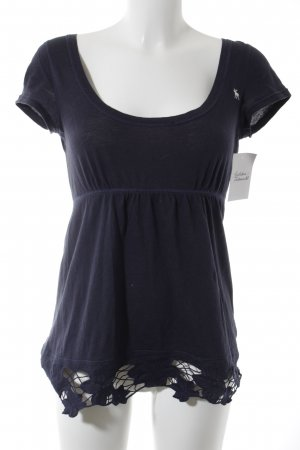 Abercrombie & Fitch T-Shirt dark blue romantic style