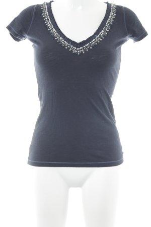 Abercrombie & Fitch T-Shirt dunkelblau schlichter Stil