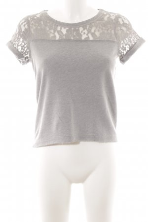 Abercrombie & Fitch T-Shirt grau-hellgrau Casual-Look