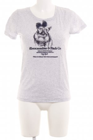 Abercrombie & Fitch T-Shirt hellgrau-dunkelblau Casual-Look