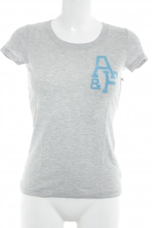 Abercrombie & Fitch T-Shirt light grey-light blue themed print casual look