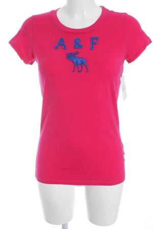 Abercrombie & Fitch T-shirt roze-blauw atletische stijl