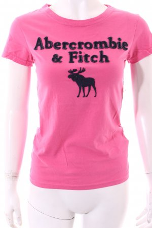 Abercrombie & Fitch T-Shirt pink-dunkelblau Street-Fashion-Look