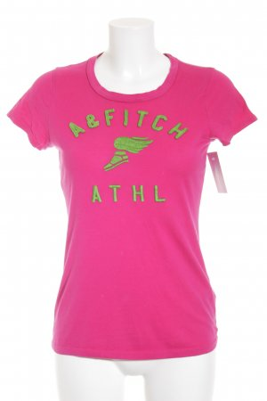 Abercrombie & Fitch T-Shirt pink-wiesengrün grafisches Muster Casual-Look