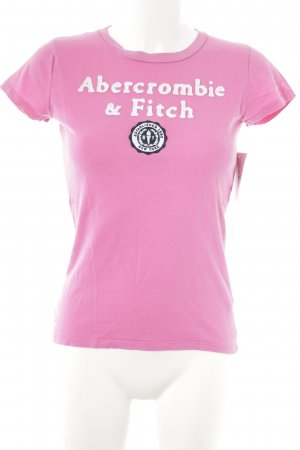 Abercrombie & Fitch T-Shirt pink-natural white athletic style