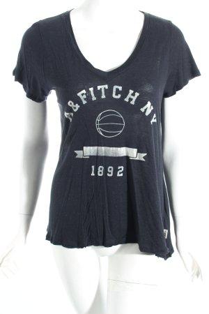 Abercrombie & Fitch T-Shirt schwarz sportlicher Stil