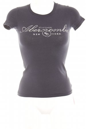 Abercrombie & Fitch T-Shirt silver-colored-dark blue printed lettering