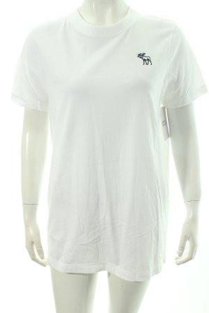 Abercrombie & Fitch T-Shirt weiß Boyfriend-Look