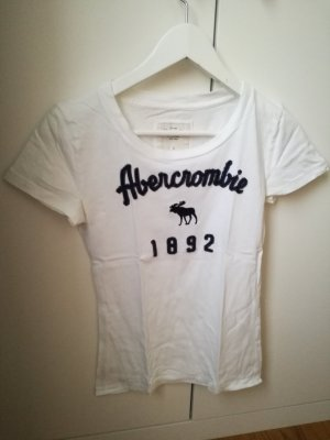 Abercrombie&Fitch T-Shirt weiß mit blauem Schriftzug