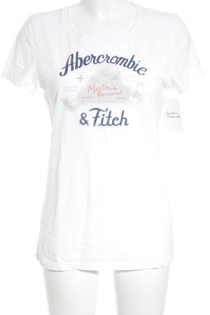 Abercrombie & Fitch T-Shirt weiß Schriftzug gedruckt Street-Fashion-Look