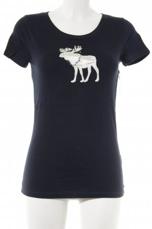 Abercrombie & Fitch T-Shirt wollweiß-dunkelblau Casual-Look