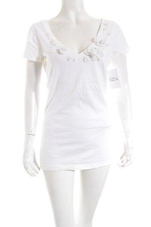 Abercrombie & Fitch T-Shirt wollweiß-hellgrau Romantik-Look