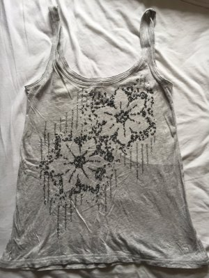 Abercrombie & Fitch Tank Top hellgrau mit Bestickung