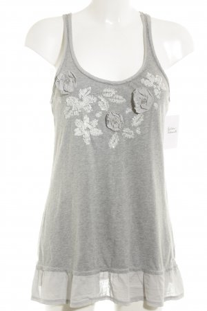 Abercrombie & Fitch Tank Top light grey-pale blue flecked casual look