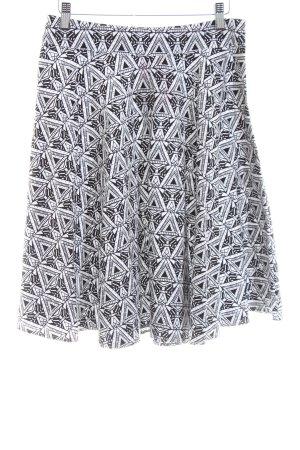 Abercrombie & Fitch Jupe corolle noir-blanc imprimé allover style décontracté
