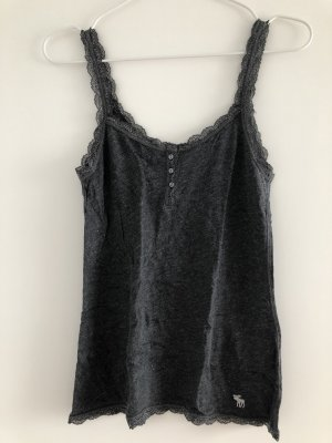 Abercrombie & Fitch Lace Top anthracite-silver-colored