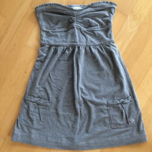 Abercrombie & Fitch Top Bustier Gr. S grau