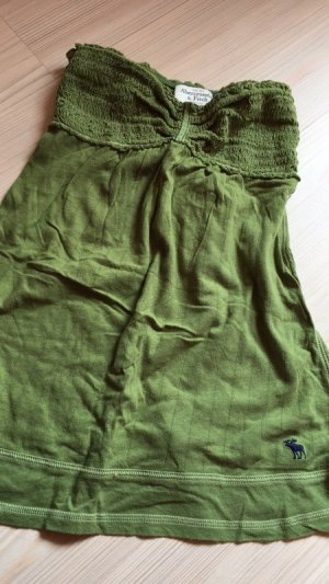 Abercrombie & Fitch Bandeau Top olive green