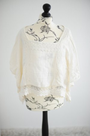 Abercrombie & Fitch Top Tunika creme M