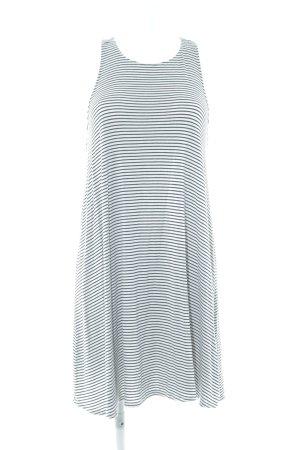 Abercrombie & Fitch Trägerkleid schwarz-weiß Streifenmuster