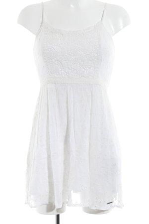 Abercrombie & Fitch Trägerkleid weiß florales Muster Romantik-Look
