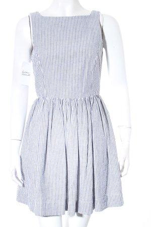 Abercrombie & Fitch Trägerkleid wollweiß-graugrün Streifenmuster Skater-Look