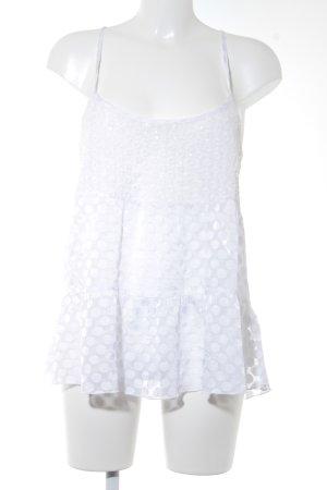 Abercrombie & Fitch Trägertop creme Blumenmuster klassischer Stil