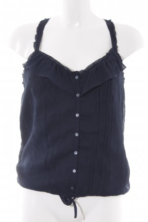 Abercrombie & Fitch Top met spaghettibandjes donkerblauw casual uitstraling