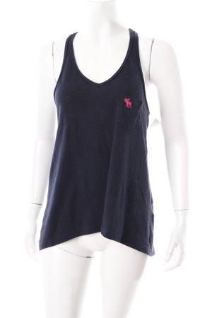 Abercrombie & Fitch Trägertop dunkelblau-magenta sportlicher Stil