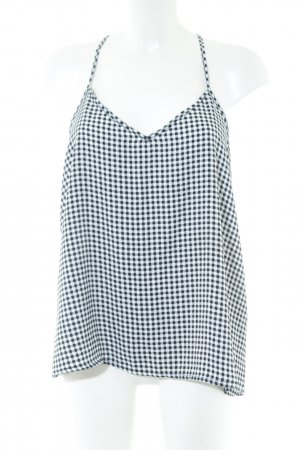 Abercrombie & Fitch Strappy Top black-white allover print casual look