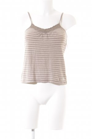 Abercrombie & Fitch Trägertop hellbraun-creme Streifenmuster Casual-Look