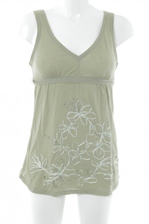 Abercrombie & Fitch Strappy Top khaki flower pattern casual look
