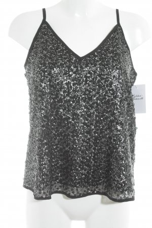 Abercrombie & Fitch Strappy Top black-silver-colored party style