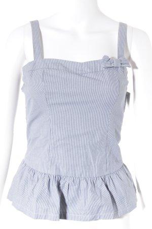 Abercrombie & Fitch Trägertop weiß-blau Streifenmuster Casual-Look