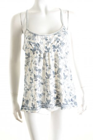 Abercrombie & Fitch Trägertop weiß-himmelblau florales Muster Casual-Look