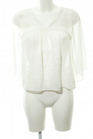 Abercrombie & Fitch Transparent Blouse oatmeal Boho look
